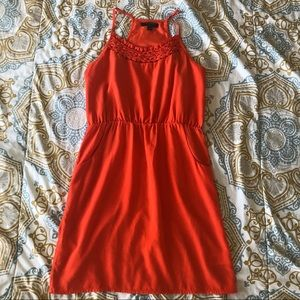 Banana Republic Orange Sleeveless Dress